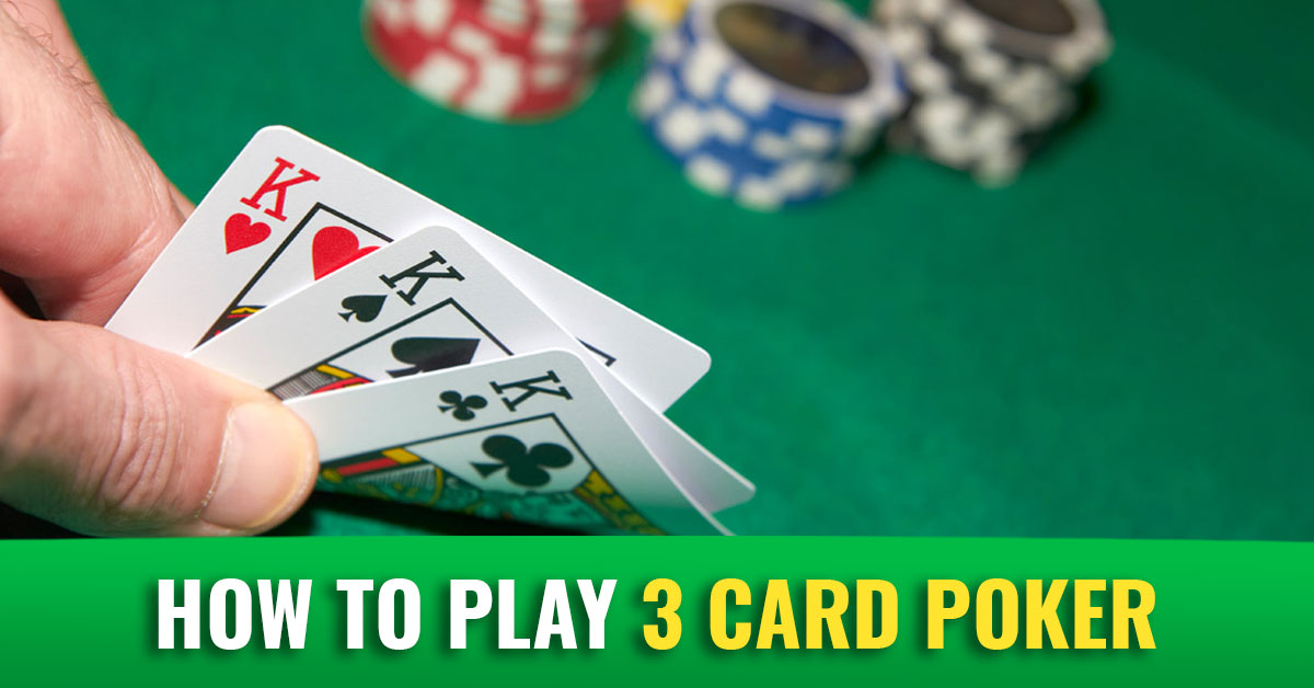 how to play 3 card poker in casino