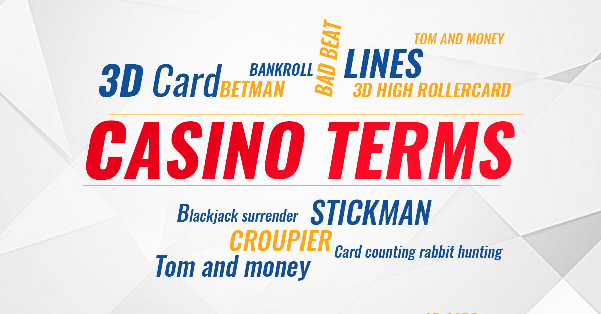 casino terms, glossary, expressions